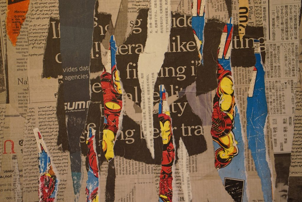 Another decollage detail (Alan Turing)